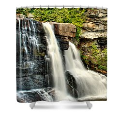 Shower Curtain featuring the photograph The Face Of The Falls by Mark Dodd