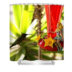 The Faeries Nectar Shower Curtain by Lon Casler Bixby