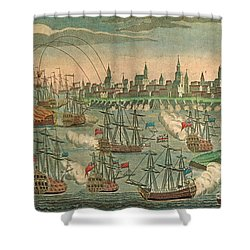 The Fall Of Louisbourg 1758 Shower Curtain by Photo Researchers