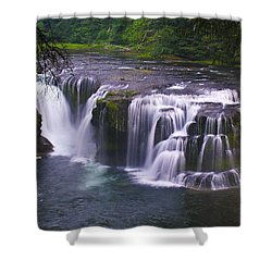 Shower Curtain featuring the photograph The Falls by David Gleeson