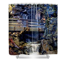 Shower Curtain featuring the photograph The Falls by Deena Stoddard