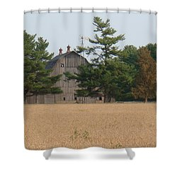 Shower Curtain featuring the photograph The Farm by Bonfire Photography