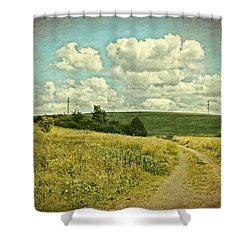 The Farm Road Shower Curtain