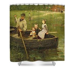 The Ferry Shower Curtain by Edward Stott