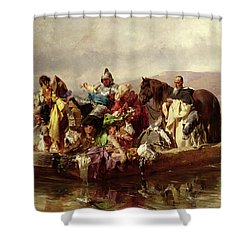 The Ferry  Shower Curtain by Johann Till