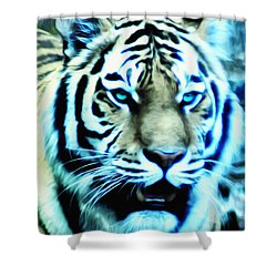 The Fierce Tiger Shower Curtain by Bill Cannon
