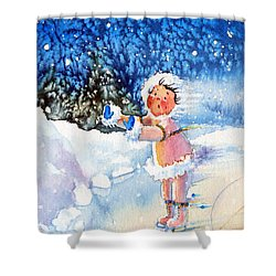 The Figure Skater 5 Shower Curtain by Hanne Lore Koehler