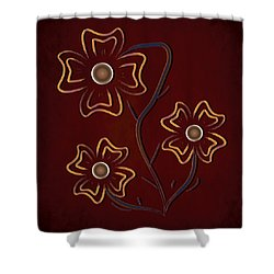Shower Curtain featuring the digital art The Flowers  by Milena Ilieva