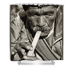 The Flute Shower Curtain by Skip Nall