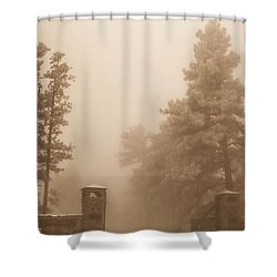Shower Curtain featuring the photograph The Fog by Shannon Harrington