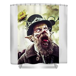 Shower Curtain featuring the photograph The Fool Goblin by Stwayne Keubrick