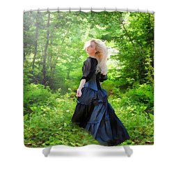 The Forest Beckons Shower Curtain by Nikki Marie Smith