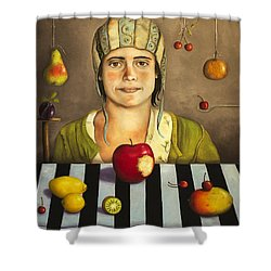 The Fruit Collector 2 Shower Curtain by Leah Saulnier The Painting Maniac