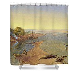 The Ganges Shower Curtain by William Crimea Simpson