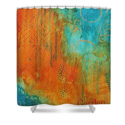 Shower Curtain featuring the painting The Garden by Nicole Nadeau