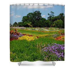The Gardens Of The Conservatory Shower Curtain by Lynn Bauer