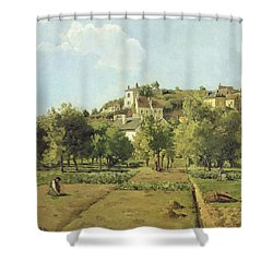 The Gardens Of The Hermitage Shower Curtain by Camille Pissarro