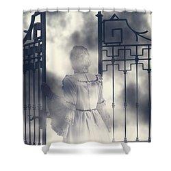 The Gate Shower Curtain by Joana Kruse