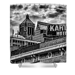 Shower Curtain featuring the photograph The Gathering Storm by Tom Gort