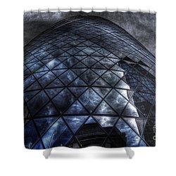 The Gherkin - Neckbreaker View Shower Curtain by Yhun Suarez
