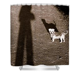 The Giants Companion Shower Curtain by Ed Smith