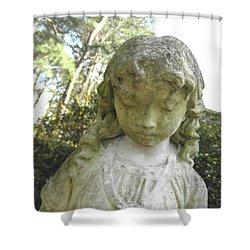 The Girl In My Backyard Shower Curtain by Wayne Potrafka