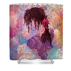 The Girl Of Many Colors Shower Curtain by Rachel Christine Nowicki