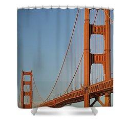 The Golden Gate Bridge At Dawn Shower Curtain by Axiom Photographic
