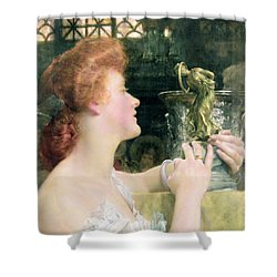 The Golden Hour Shower Curtain by Sir Lawrence Alma-Tadema