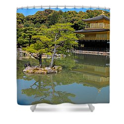 The Golden Pavilion Shower Curtain