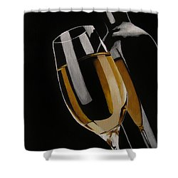 The Golden Years Shower Curtain by Kayleigh Semeniuk