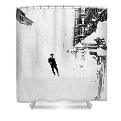 The Great Blizzard, Nyc, 1888 Shower Curtain by Science Source