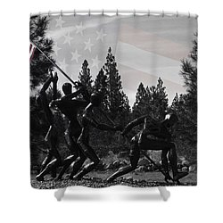 Shower Curtain featuring the photograph The Greatest Generation  by Larry Depee