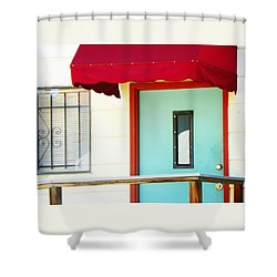 The Green Door Shower Curtain by Lenore Senior