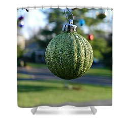 The Green One Shower Curtain by Richard Reeve