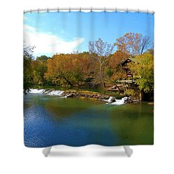 Shower Curtain featuring the photograph The Grist Big River by Peggy Franz