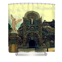 The Grotto In Iowa Shower Curtain by Susanne Van Hulst