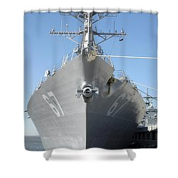 The Guided Missile Destroyer Uss Cole Shower Curtain by Stocktrek Images