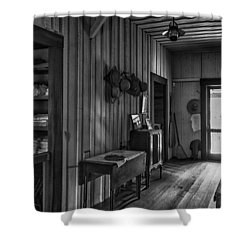 The Hat Rack Shower Curtain by Lynn Palmer