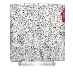 The Heart In The Sand Shower Curtain by Joana Kruse