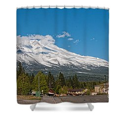 The Heart Of Mount Shasta Shower Curtain by Carol Ailles