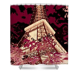 The Heart Of Paris - Digital Painting Shower Curtain by Carol Groenen
