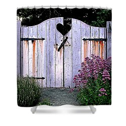 The Heart, Like An Old Gate Needs Care And Attention Shower Curtain