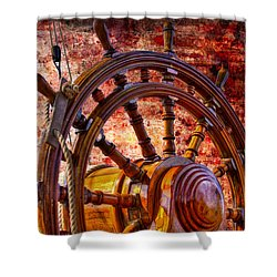 The Helm Shower Curtain by Debra and Dave Vanderlaan