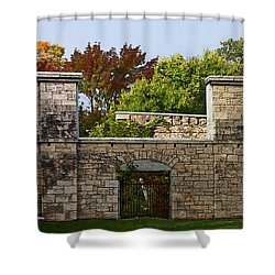 The Hermitage Shower Curtain by Barbara McMahon