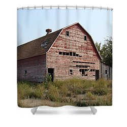 Shower Curtain featuring the photograph The Hole Barn by Bonfire Photography