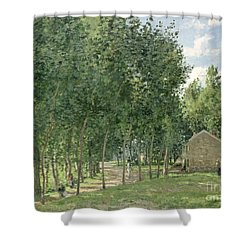 The House In The Forest Shower Curtain by Camille Pissarro