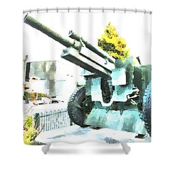 The Howitzer 105mm Field Gun Carriage Shower Curtain