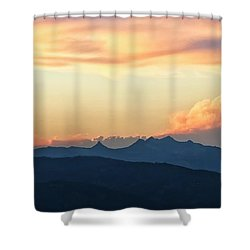 Shower Curtain featuring the photograph The Idaho Selkirks by Albert Seger