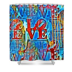 The Illusion Of Love Shower Curtain by Bill Cannon